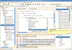 Screenshot of MonoDevelop