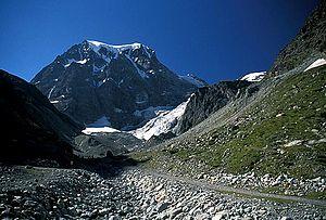 Arolla - The north face of Mont Collon above Arolla