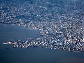 Aerial view of Montevideo