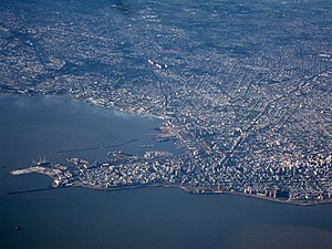 Bay of Montevideo - Aerial