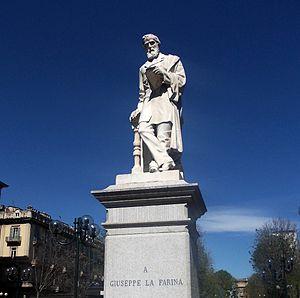 Giuseppe La Farina - Monument to Giuseppe La Farina, Turin