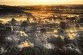 Morning Falls in Shards Over a Smoking Corfe (15088519574).jpg