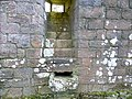 Morton Castle great hall slop drain, Thornhill, Dumfries and Galloway, Scotland.jpg