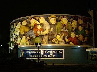 Barquisimeto - Mosaic Rectorate of the Universidad Centroccidental Lisandro Alvarado.