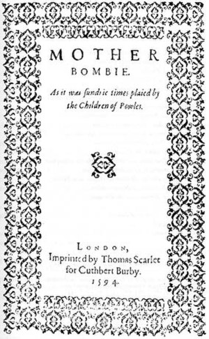 Mother Bombie - Title page of Mother Bombie.