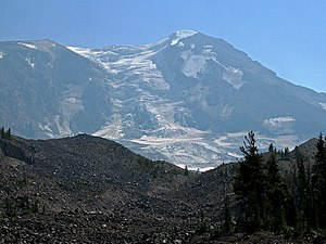 View of Mount Adams and Adams Glacier from Pac...