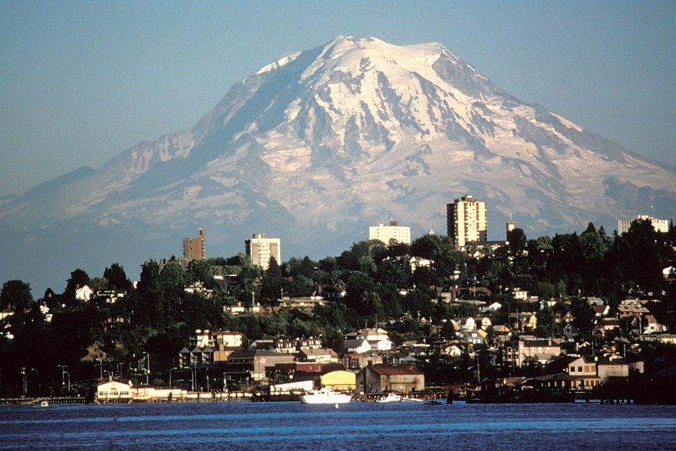 Mount Rainier over Tacoma