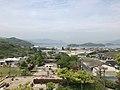 Mount Umagamiyama and Kobosojima Island from observation deck in Innoshima Flower Center.jpg