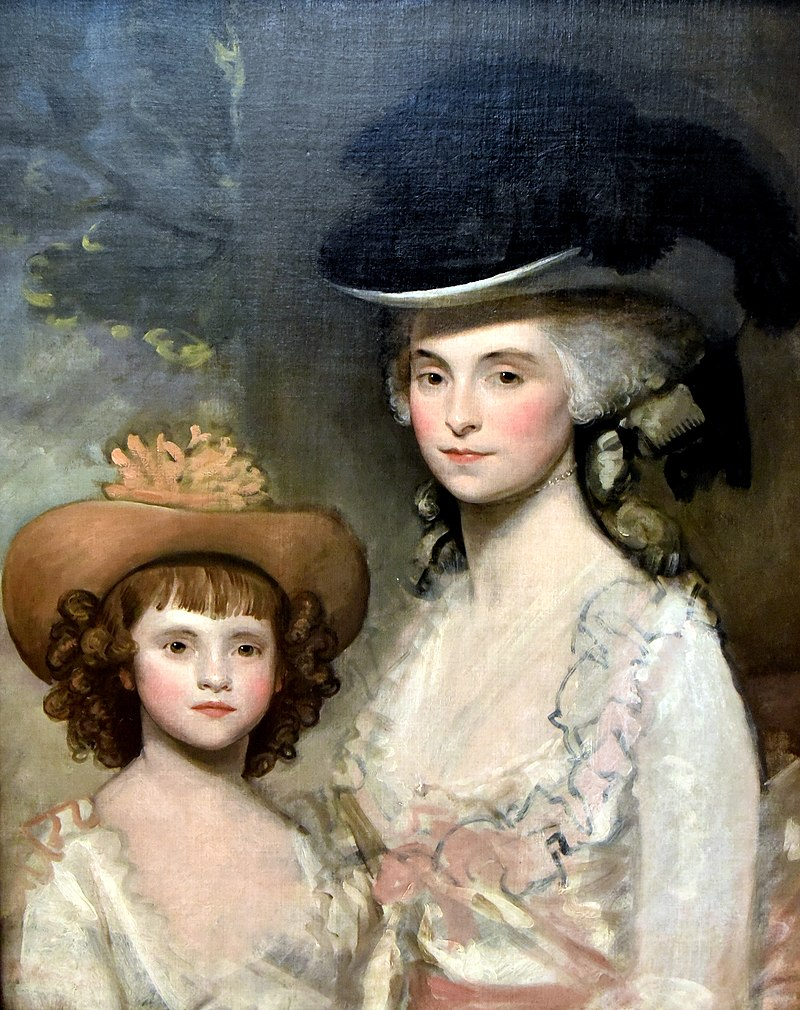 Mrs. Blades and Her Daughter, 1775-1787 CE, by Gilbert Stuart, Nationalmuseum, Sweden.jpg