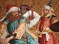 Munderkingen St Dionysius Christus vor Pilatus detail Handwaschung.jpg