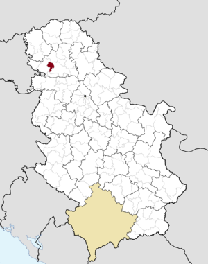 Bački Petrovac - Image: Municipalities of Serbia Bački Petrovac