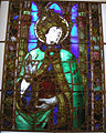 Museo di santa croce, vetrata attr. alesso baldovinetti, santo papa.JPG