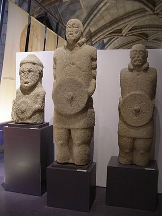 Lusitanians - Statues of Lusitanian warriors in the National Archaeology Museum in Lisbon, Portugal.