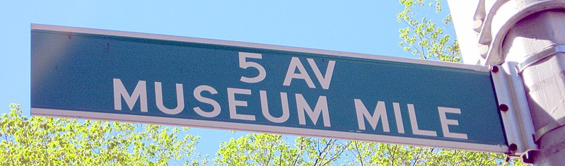 Datei:Museum Mile Sign.jpg