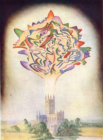 Астральная форма, созданная во время исполнения пьесы Шарля Гуно (из книги «Мыслеформы»).