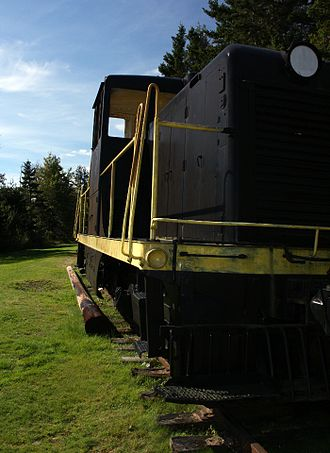Prince Edward Island Railway - Diesel engine used in PEI in the 1950s. PEI had diesel service a full decade before the rest of Canada.