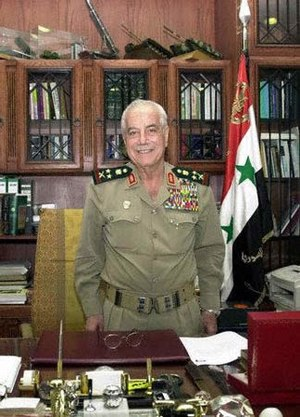 Mustafa Tlass - Mustafa Tlass in his office in Damascus