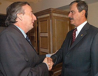 Argentina–Mexico relations - Former Presidents Néstor Kirchner and Vicente Fox; 2004.