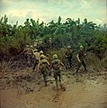 NARA 111-CCV-113-CC43676 9th Infantry Division soldiers assaulting wooded area in riverine operation on the My Tho River 1967.jpg