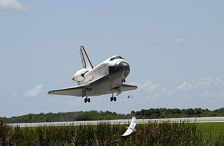 Space Shuttle Atlantis landing at Kennedy Space Center