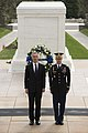 NATO secretary general participates in wreath laying ceremony at the Tomb of the Unknown Soldier in Arlington National Cemetery (33153250234).jpg