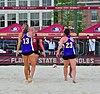NCAA sand volleyball FSU vs LSU, 2015 (16454734084).jpg