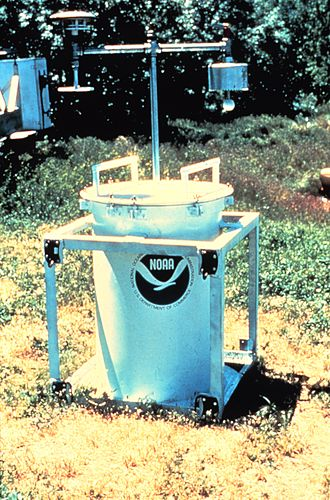 TOtable Tornado Observatory - TOTO. An instrumented metal drum which scientists attempted to place in the path of tornadoes during the 1980s.