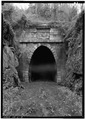 NORTHEAST PORTAL. - Blue Ridge Railroad, Blue Ridge Tunnel, U.S. Route 250 at Rockfish Gap, Afton, Nelson County, VA HAER VA,63-AFT.V,1-2.tif