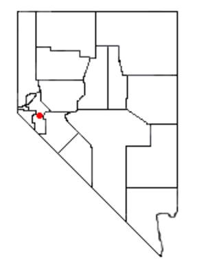 Yerington Paiute Tribe of the Yerington Colony and Campbell Ranch - Yerington on a map of Nevada