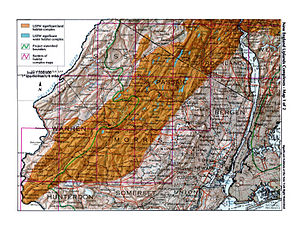 New York–New Jersey Highlands - Map highlighting the region