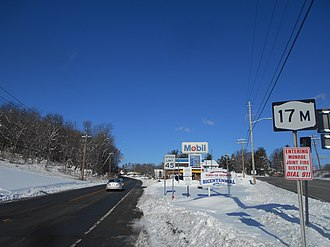 New York State Route 17M - NY 17M running west from NY 17 in Woodbury