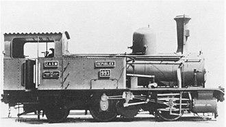 NZASM 32 Tonner 0-4-2RT - Image: NZASM 32 Tonner 0 4 2T no. 993 Republiek