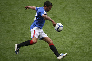 Nacho Novo - Novo playing for Rangers in 2009
