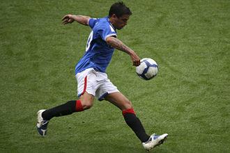 Nacho Novo - Novo playing for Rangers in 2009