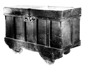 Tansu - Nagamochi kuruma wheeled trunks are the oldest documented category of tansu.