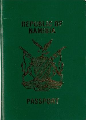 Namibian passport - Image: Namibia Passport