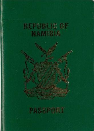 Namibian passport - Image: Namibia Passport