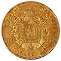 Napoléon III 100 francs or 1857 A.jpg