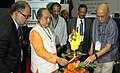 Narendra Singh Tomar lighting the lamp to inaugurate the Mining Mazma-2015, in Bengaluru. The Secretary (Mines) Shri Balvinder Kumar, the Secretary (Coal), Shri Anil Swarup and other dignitaries are also seen.jpg