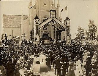 National Acadian Day - National Acadian Day in 1909, Shediac, New Brunswick