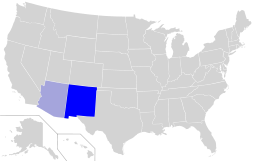 Navajo language spread in the United States.