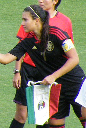Nayeli Rangel - Rangel captaining Mexico at the 2012 FIFA U-20 Women's World Cup