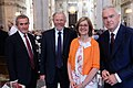Neil MacGregor, Bill Bryson, Claire Walker, Huw Edwards (28449155987).jpg