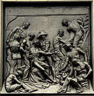 Nelson's column - Battle of the Nile relief (Edward Carew, 1850).jpg