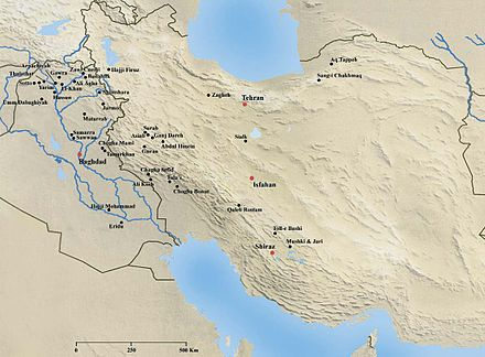 Neolithic sites in Iran Neolithic sites in Iran.jpg