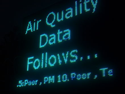 Air quality monitoring, New Delhi, India. New Delhi Met Office, India 02.jpg