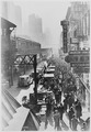 New York City's Sixth Avenue elevated railway and the crowded street below, ca. 1940 - NARA - 535709.tif
