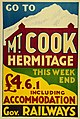 New Zealand Railway poster - Go to Mt Cook Hermitage This Week-end c.1930 -c.1939 (10469017634).jpg