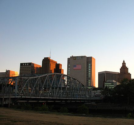 Downtown Newark at sunset NewarkNJ 7 2010.JPG