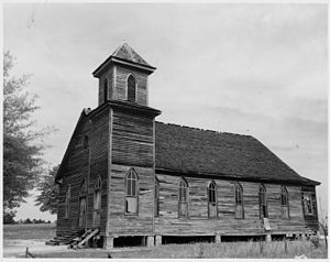 Racial segregation of churches in the United States - View of an African-American church in a thinly populated area of Newberry County, South Carolina.